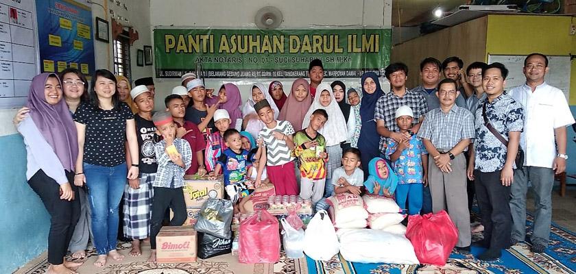 Bakti Sosial Vadhana di Panti Asuhan Darul Ilmi Pekanbaru dan Warga Sekitar
