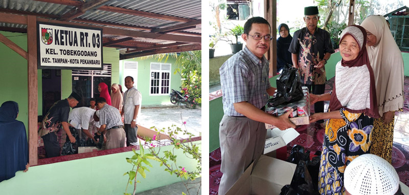 Baksos Vadhana kepada warga Kel Tobekgodang Kec Tampan - Kota Pekanbaru